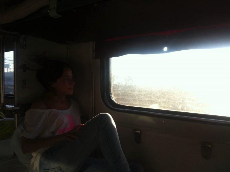 Observando el paisaje desde el Transiberiano