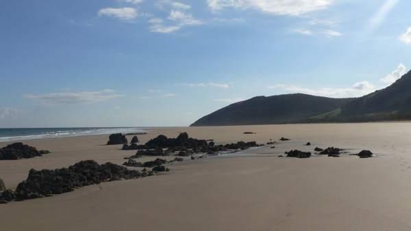 Playa para perros en Helgueras, Noja