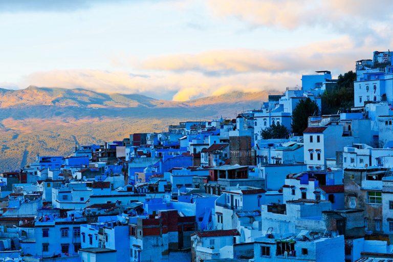 Vista de Chefchaouen, la ciudad azul de Marruecos