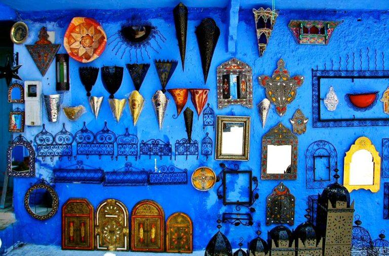 Tienda en Chefchaouen, la ciudad azul de Marruecos
